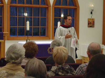 Jay leads evening prayer at King of Peace