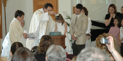 Hannah is baptized
