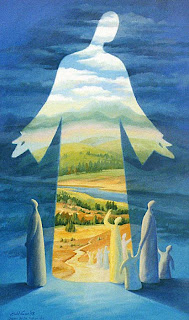 Ain Vares painting of jesus as The Way, The Truth and The Life