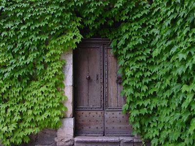 A doorway in Villecroze, France