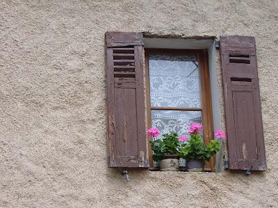 A window in Villecroze, France