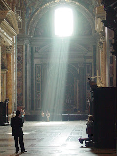 confession in Saint Peter's Basilica