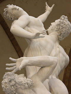 Staue of the Rape of the Sabine Women in Florence