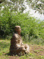 A statue of Francis in San Damiano, Italy