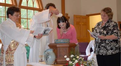 Denise is baptized