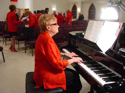 Carol plays the postlude after the worship service