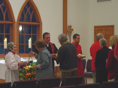 distributing communion