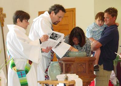Amie is baptized