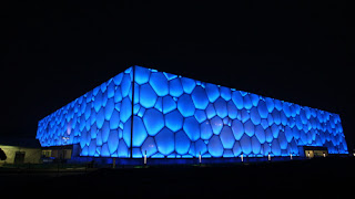Beijing Olympics Water Cube at Night