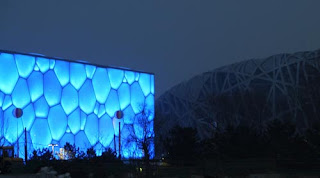 Water Cube and Birds Nest Beijing Olympics
