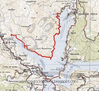 vilar da veiga mapa Pegada e Bota: C. Eléctrica de Vilar da Veiga   S. Bento da Porta  vilar da veiga mapa