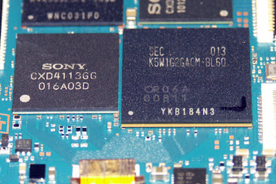 sony nex disassembled components chips infrared