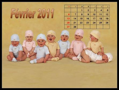 Cute Baby Desktop Calendar 2011