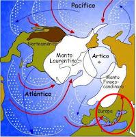 Ubicación durante la Glaciación.
