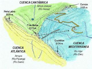 Un punto excepcional que vierte a todos los mares que rodean la península