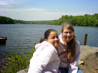 'Brina and Kimberly at top of Waterfall at Hopewell Lake