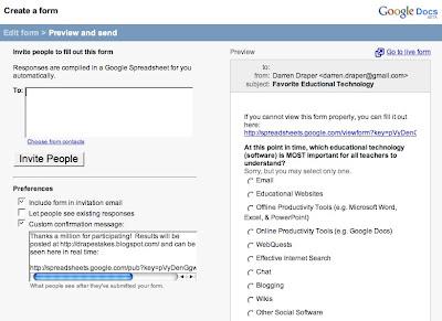 drape s takes surveys via google spreadsheets