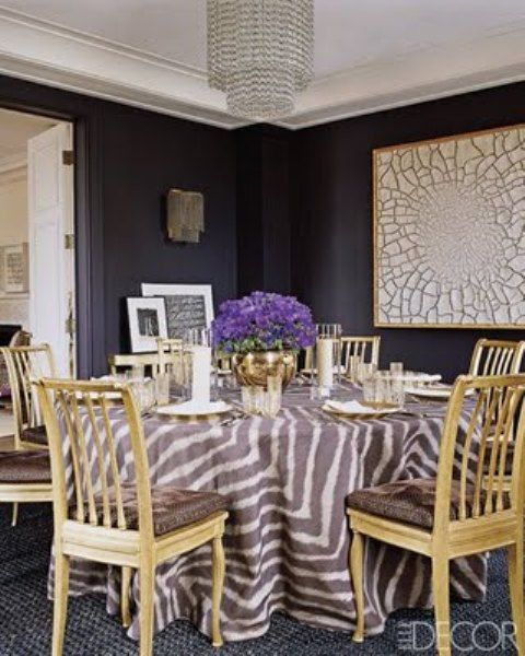 dramatic purple dining room designs in pastels | pretty things: design: deep purple dining room