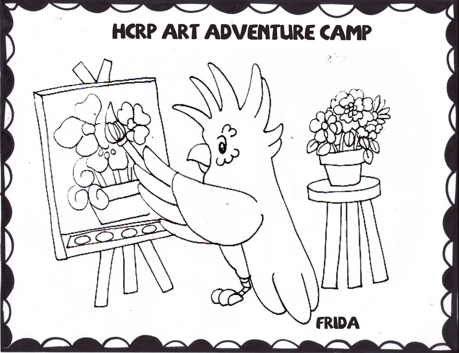 Camp Coloring Pages