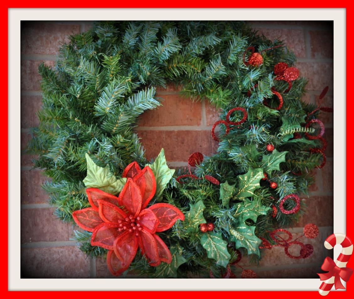 poinsettia christmas wreath for sale. Black Bedroom Furniture Sets. Home Design Ideas