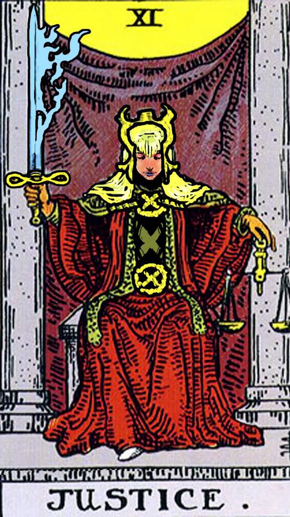 Cauldron Of The Goddess: Daily Tarot: Justice Card