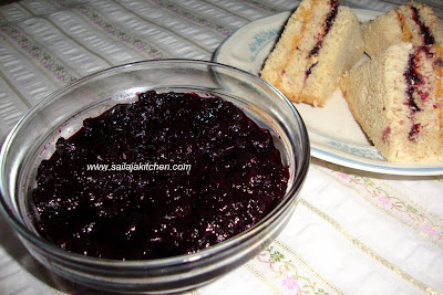 image of Homemade Blueberry & Lemon Preserve / Jam