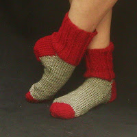 Red and Silver House socks only $20