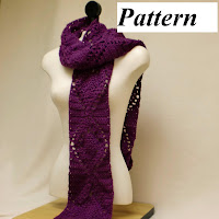 Purple crochet scarf pattern