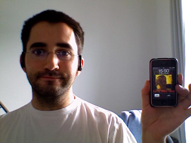 Beweisbild mit einem der ersten iPhones überhaupt