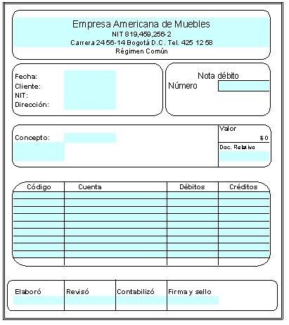 soportes de contabilidad 14 COMPROBANTE DE VENTA CON TARJETA DE - formato nota de credito
