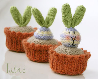 knitted bunny knitted rabbit knitted plant