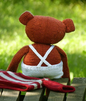 knitted bear, knitted teddy bear