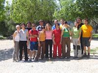 Tot el grup després de berenar als Tossals Verds