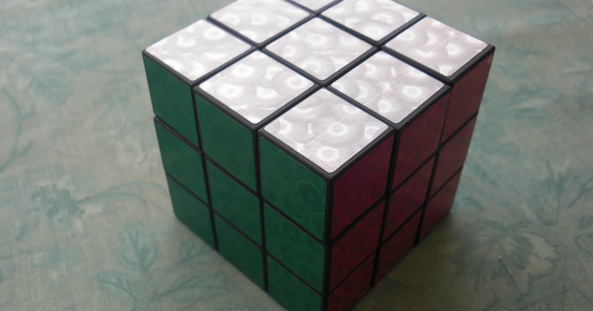 Obsessively Stitching Customized Rubiks Cube