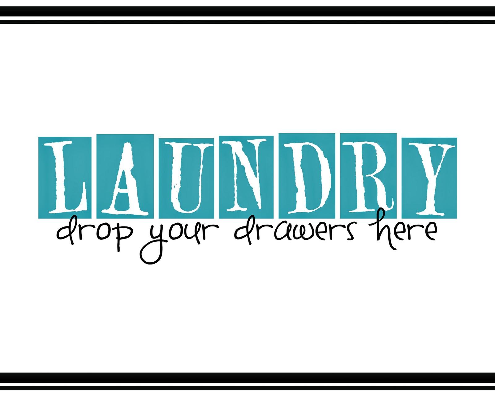 Saying It Sweet Laundry Room Printable