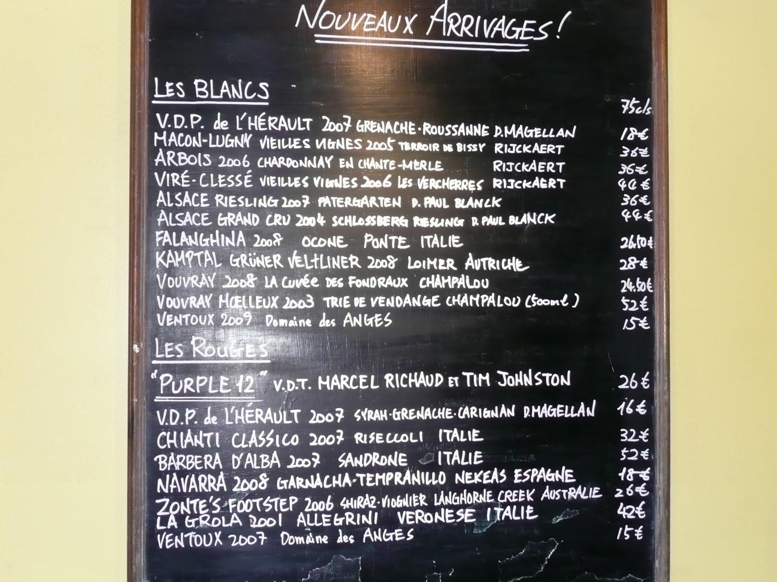 Juveniles Restaurant Paris Menu
