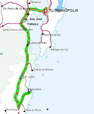 mapa florianopolis garopaba