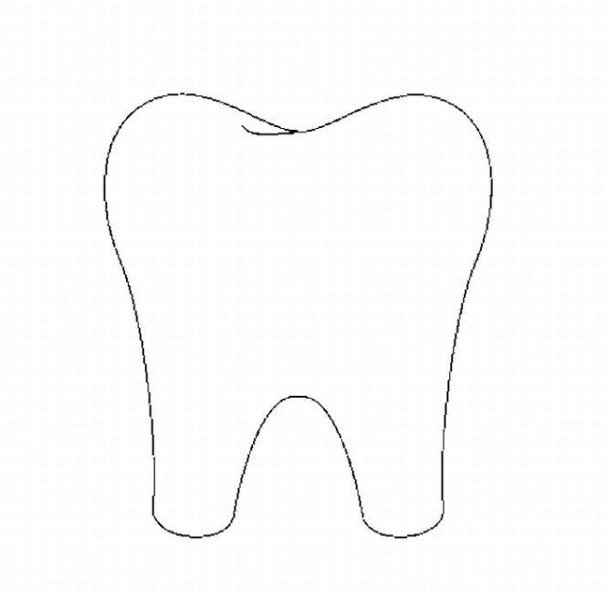 Chipman 39 s corner preschool september 2010 for Teeth coloring page