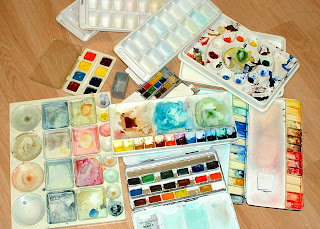 Some of my Watercolor Palettes