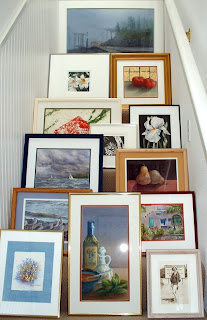 Framed work-Nancy Van Blaricom