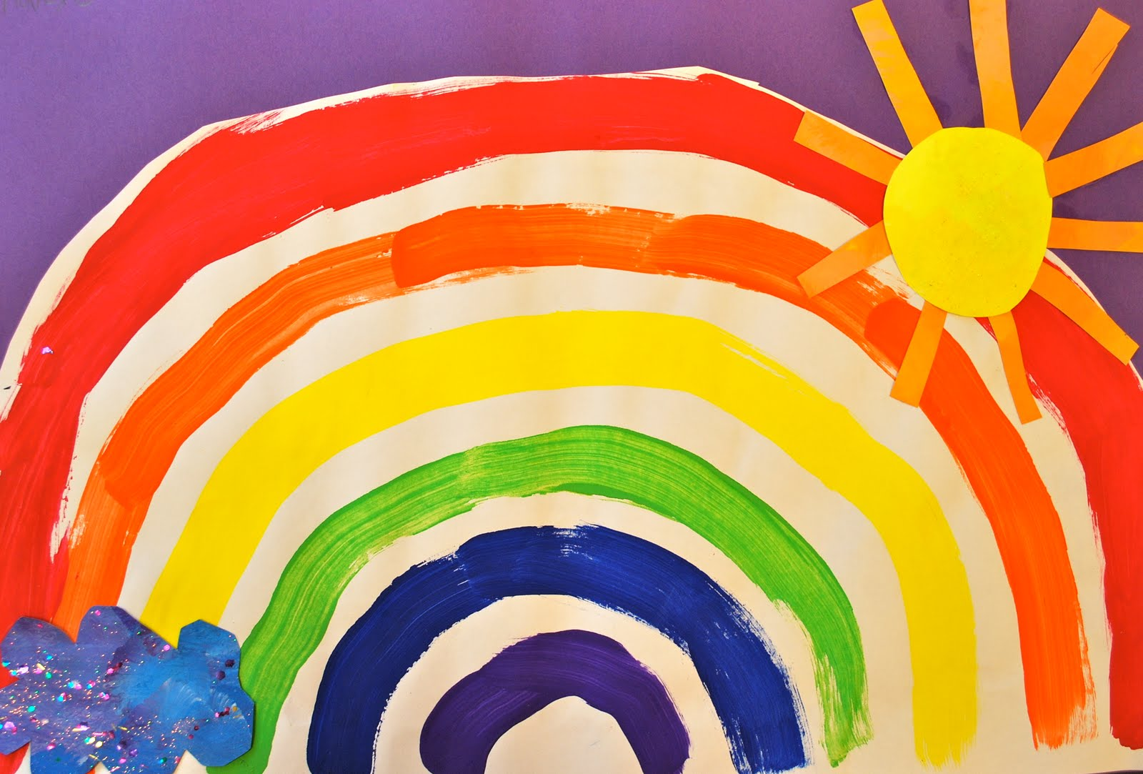 Painted Paper Roy G Biv