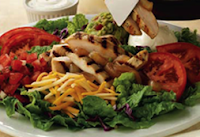 On The Border's Sizzling Fajita Salad