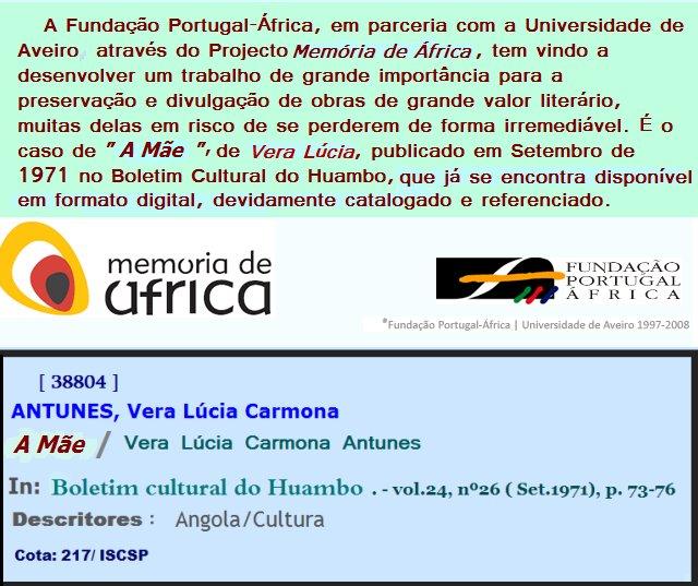 """""""A Mãe"""", de Vera Lúcia, em Memória de África"""