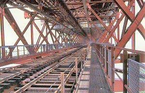 Ponte 25 de Abril, tabuleiro ferroviario