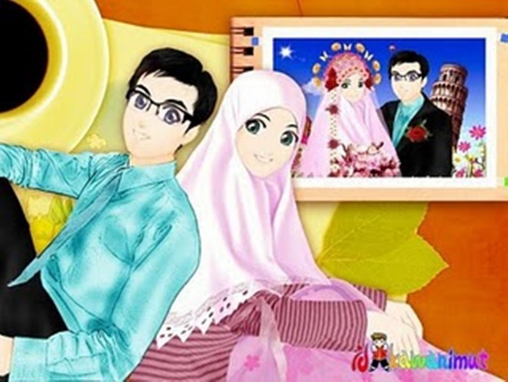 Gambar Kartun Muslimah Dua Orang Top Gambar