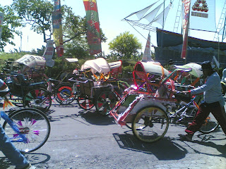 Parade Becak Hias