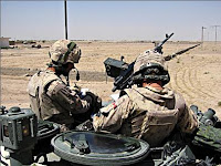 Soldiers with the Canadian battle group take positions for a second day of operations to root out Taliban just west of Kandahar. (John Cotter/Canadian Press)