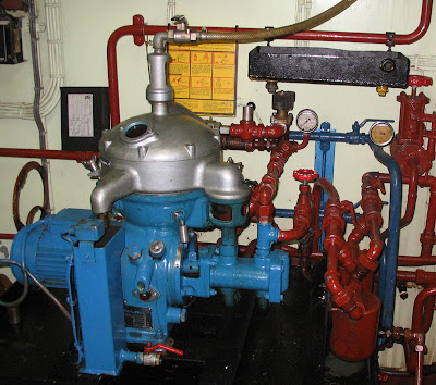 Alfa Laval fuel oil separator which we plan to replace by a CJC filter system