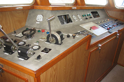 part of the controls on the bridge