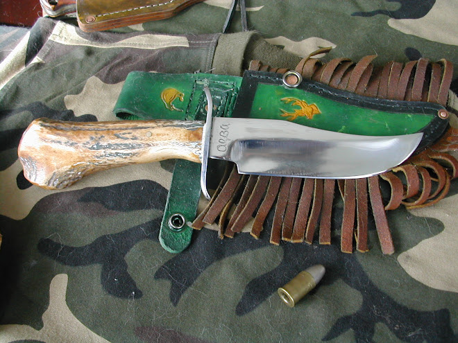 Deer Antlered Bowie style knife